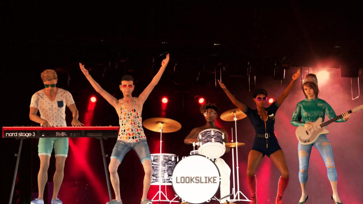Logo virtual interactive band lookslike looklike liveband coverband live cover band künstler eventidee idee